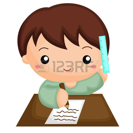 homework cliparts stock. Boy turning in assignment clipart