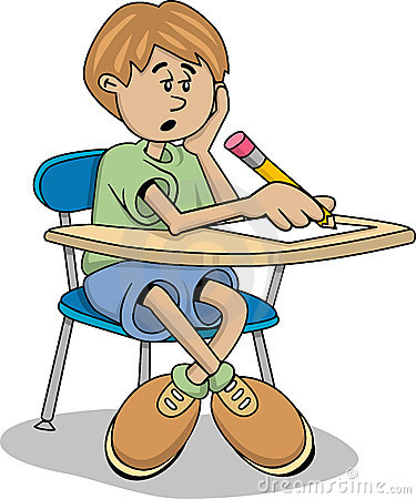 School frustrated kid lazy. Boy turning in assignment clipart