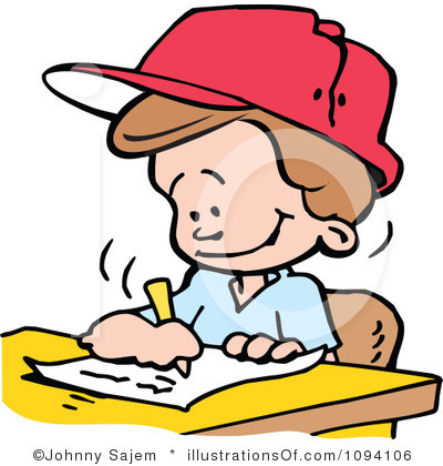 Clipartfest no homework . Boy turning in assignment clipart