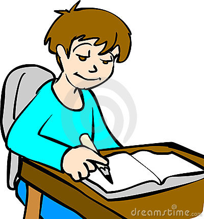 Doing homework kid doings. Boy turning in assignment clipart