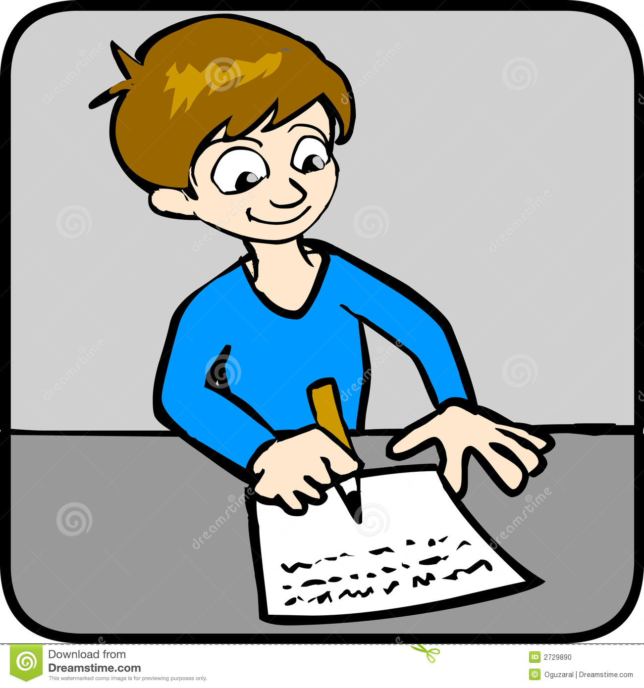 Boy turning in assignment clipart. Clipartfest doing homework