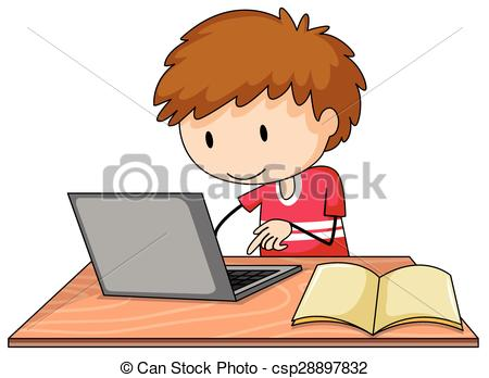 Boy turning in assignment clipart. Turnng clipartfox csp