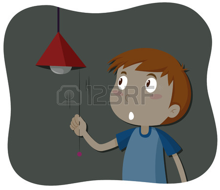 Boy turning lights of clipart image freeuse download Boy turning lights of clipart - ClipartFest image freeuse download