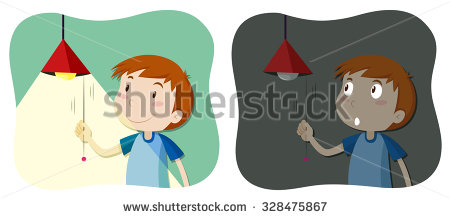 Boy turning lights of clipart vector transparent library Boy turning lights of clipart - ClipartFest vector transparent library