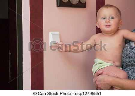 Boy turning lights off clipart jpg Stock Images of interested little boy turning off the light-switch ... jpg