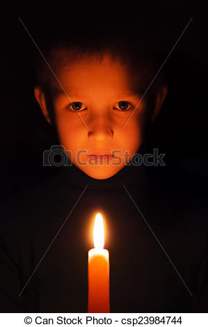 Boy turning lights off clipart image library stock Stock Photo of turning off lights - boy with burning wax candles ... image library stock