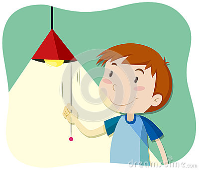 Boy turning lights off clipart clip freeuse download Boy Turning Light Stock Illustrations – 3 Boy Turning Light Stock ... clip freeuse download