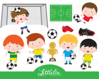 Boy valentine soccer clipart image library stock Soccer ball clipart | Etsy image library stock