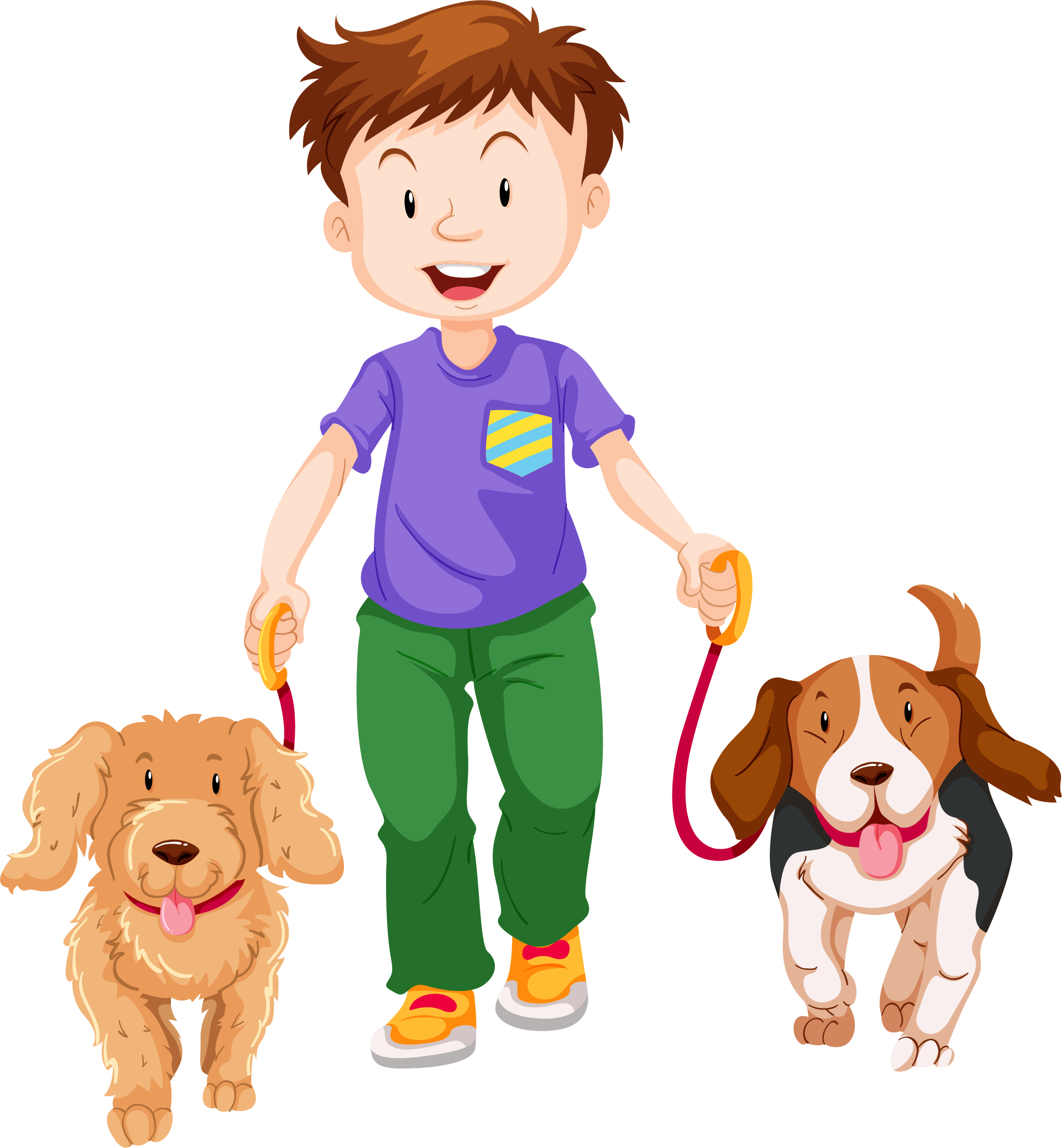Boy walking dog clipart clipart free stock Walking Boy Cartoon - Alpha Beta Demo clipart free stock