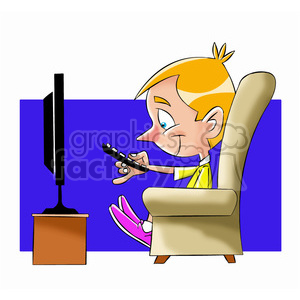 Boy watching tv clipart jpg royalty free stock small boy binge watching tv cartoon clipart. Royalty-free clipart # 397685 jpg royalty free stock