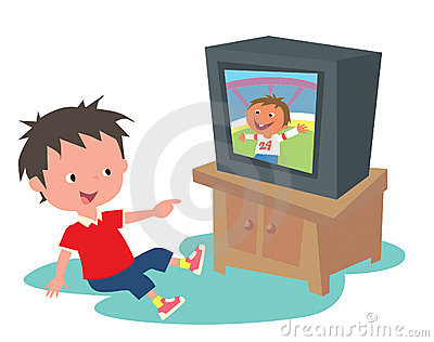 Watching tv cliparts graphic royalty free download Boy watching tv clipart » Clipart Station graphic royalty free download