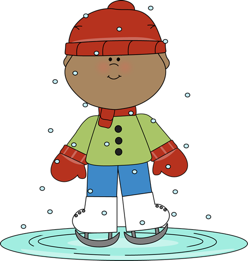 Boy wearing mittens clipart image freeuse library Boy Skating on Ice Clip Art - Boy Skating on Ice Image image freeuse library