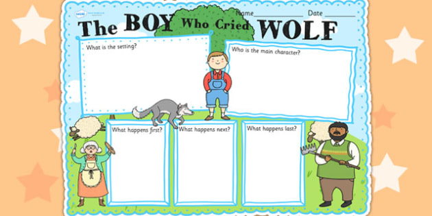 Boy who cried wolf clipart banner black and white download The Boy Who Cried Wolf Story Review Writin #418931 - Clipartimage.com banner black and white download