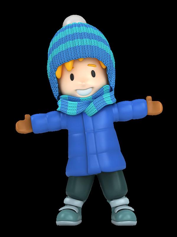 Boy winter clipart