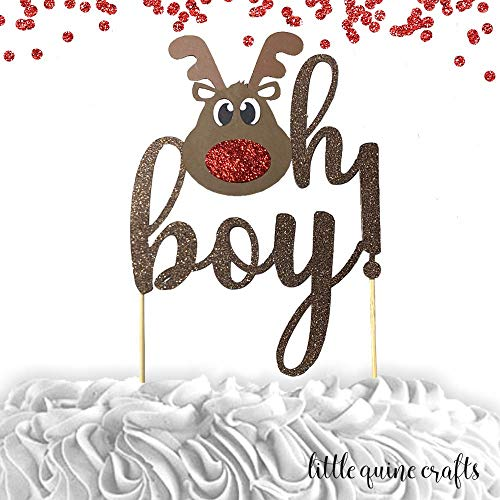 Boy winter deer clipart clip black and white library Amazon.com: 1 pc oh boy! Rudolph the reindeer deer antler red ... clip black and white library