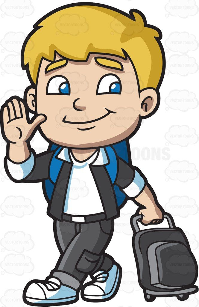 Boy with blonde hair blue eyes clipart graphic royalty free A boy leaving for the airport : A boy with blonde hair and blue eyes ... graphic royalty free