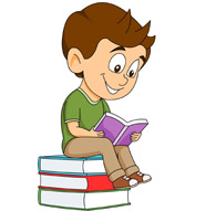Free book clip art. Boy with books clipart
