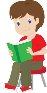 Reading clipartfest. Boy with books clipart