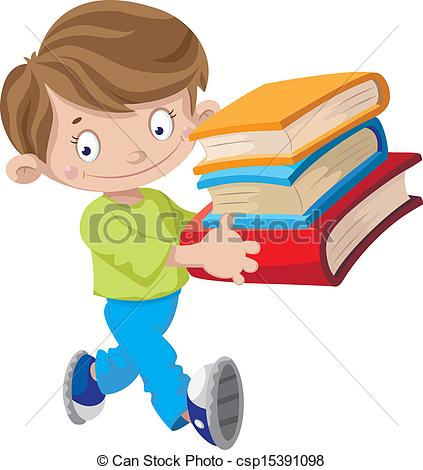 Holding book clipartfest vector. Boy with books clipart