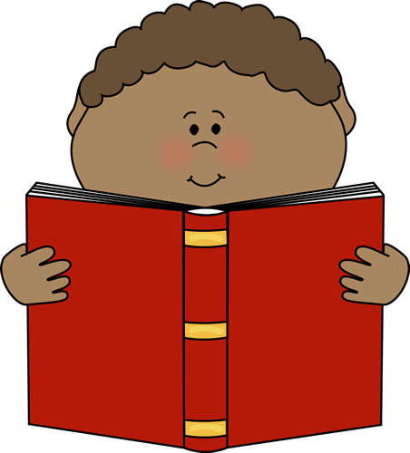 Boy with books clipart. Reading book kid blue