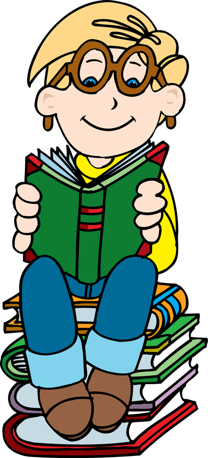 Girl holding reading book clipart png royalty free download Boy reading on stack of books clipart - ClipartFest png royalty free download