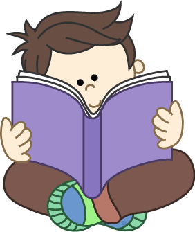Reading book kid a. Boy with books clipart