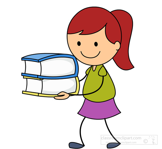 Boy with books clipart. Holding book clipartfest on