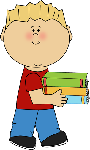 Boy with books clipart. Clipartfest little carrying a