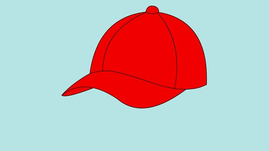 Boy with cap back of head clipart vector library How to Draw a Baseball Cap: 10 Steps (with Pictures) - wikiHow vector library