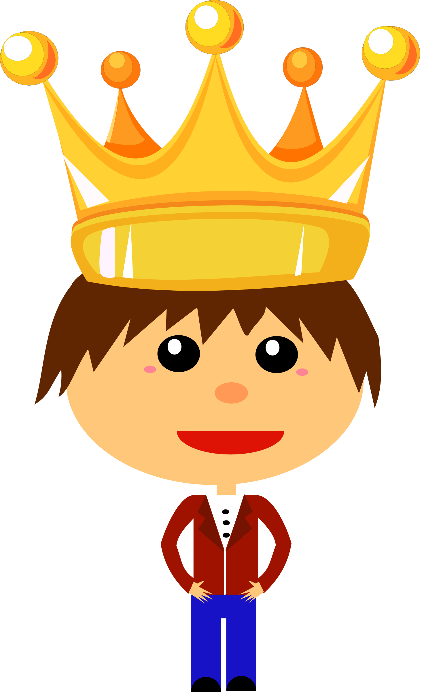 Little prince crown clipart svg free stock Clipart - Prince Boy svg free stock