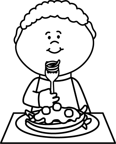 People eating clipart black and white transparent svg transparent library Eating Lunch Clipart Black And White svg transparent library