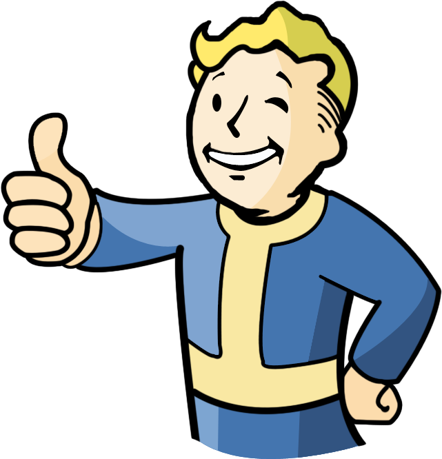 Boy with thumbs up clipart banner transparent stock Image - Vault- -Boy .png | Fallout Wiki | FANDOM powered by Wikia banner transparent stock