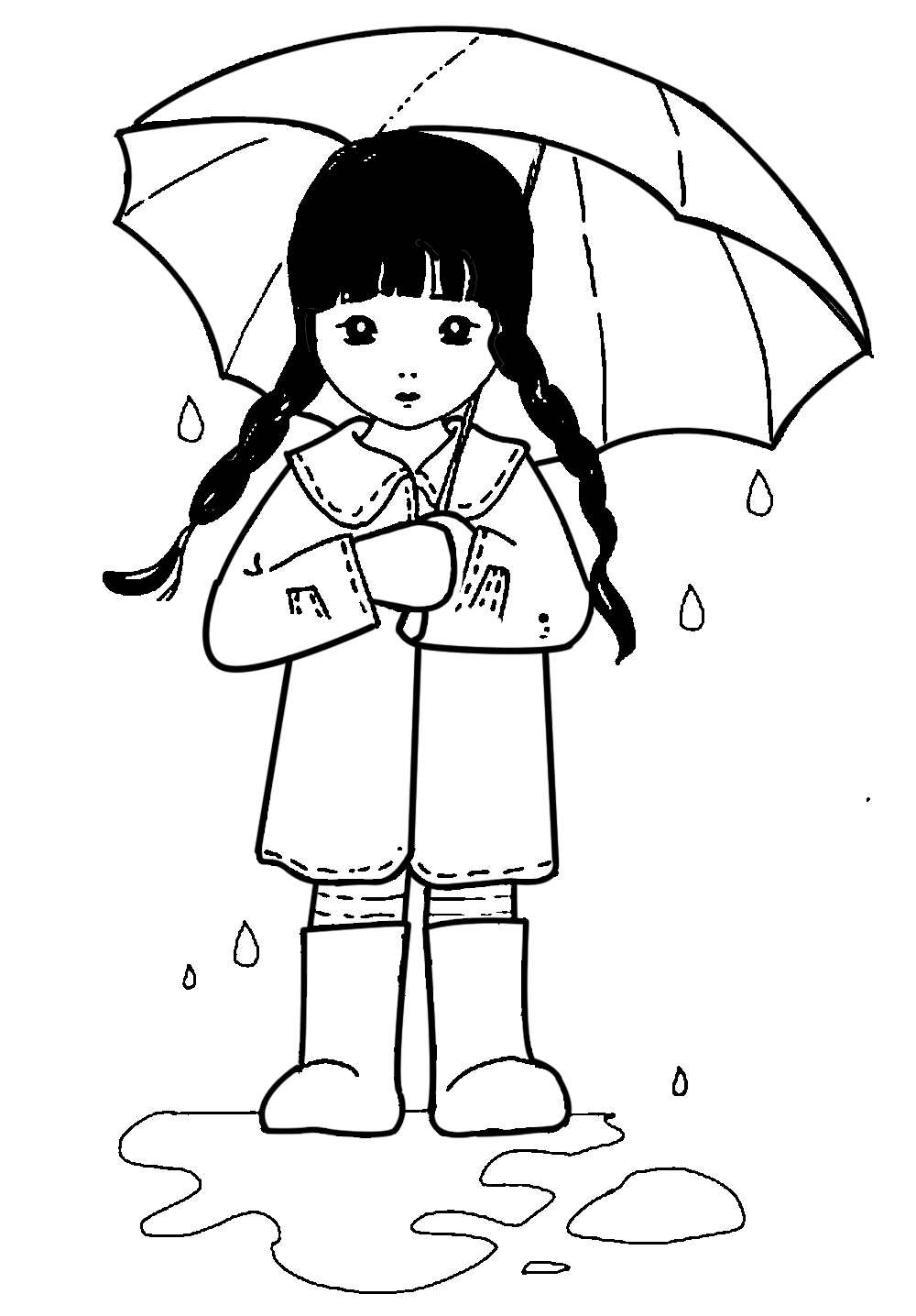 Boy with umbrella clipart black and white clip library stock Free Umbrella Images, Download Free Clip Art, Free Clip Art on ... clip library stock