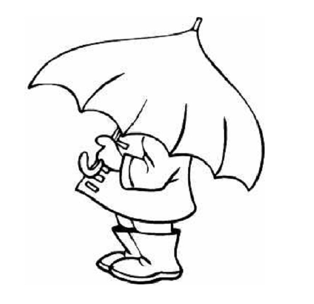 Boy with umbrella clipart black and white image stock Girl Holding Umbrella Drawing | Free download best Girl Holding ... image stock
