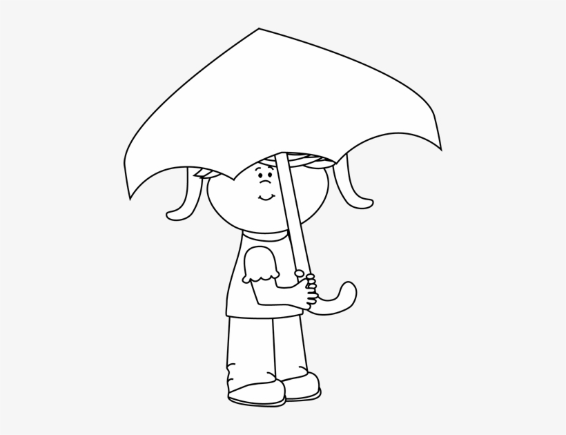 Boy with umbrella clipart black and white png royalty free stock Umbrella Clipart Unbrella - Boy With An Umbrella Clipart Black And ... png royalty free stock