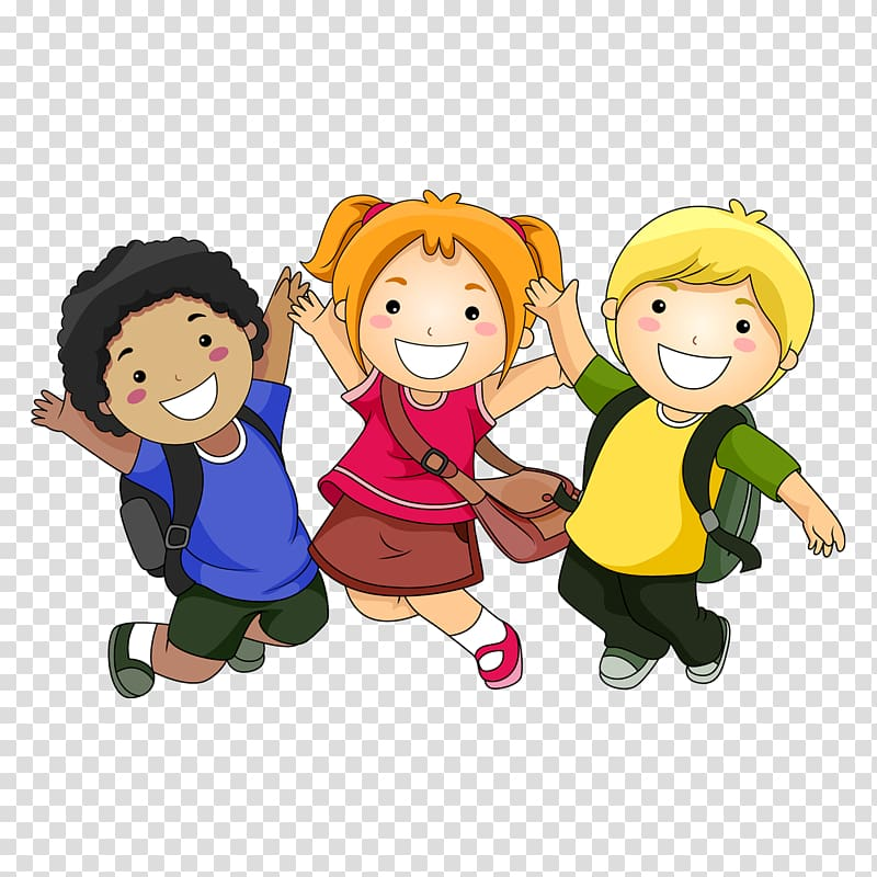 Boys carring bags clipart clip black and white download Two boys and girl jumping illustration, Cartoon Child , A schoolbag ... clip black and white download