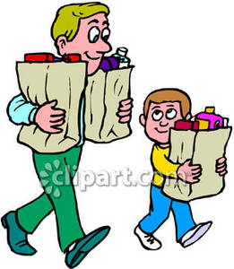 Boys carring bags clipart clipart free download Boy and His Dad Carrying Bags   Clipart Panda - Free Clipart Images clipart free download