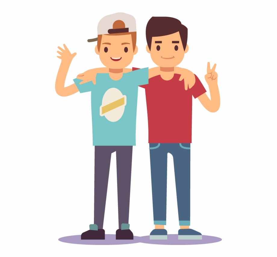 Boys friendship clipart png royalty free download Boy Best Friends Cartoon Free PNG Images & Clipart Download #3649560 ... png royalty free download