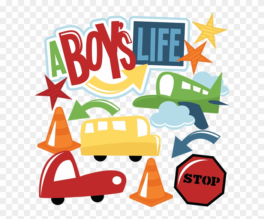 Boys life clipart clipart black and white A Boy\'s Life Svg Cut Files Airplane Svg File Bus Svg - Miss Kate ... clipart black and white