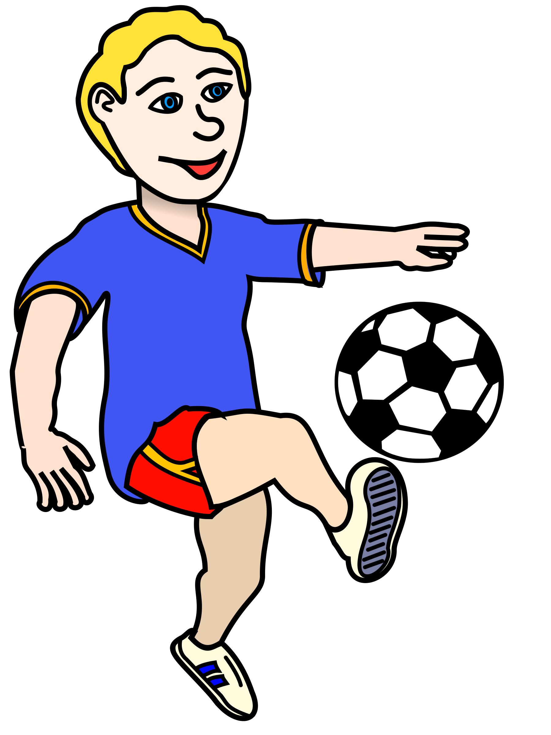 Football players clipart picture library Soccer Player Clipart at GetDrawings.com | Free for personal use ... picture library