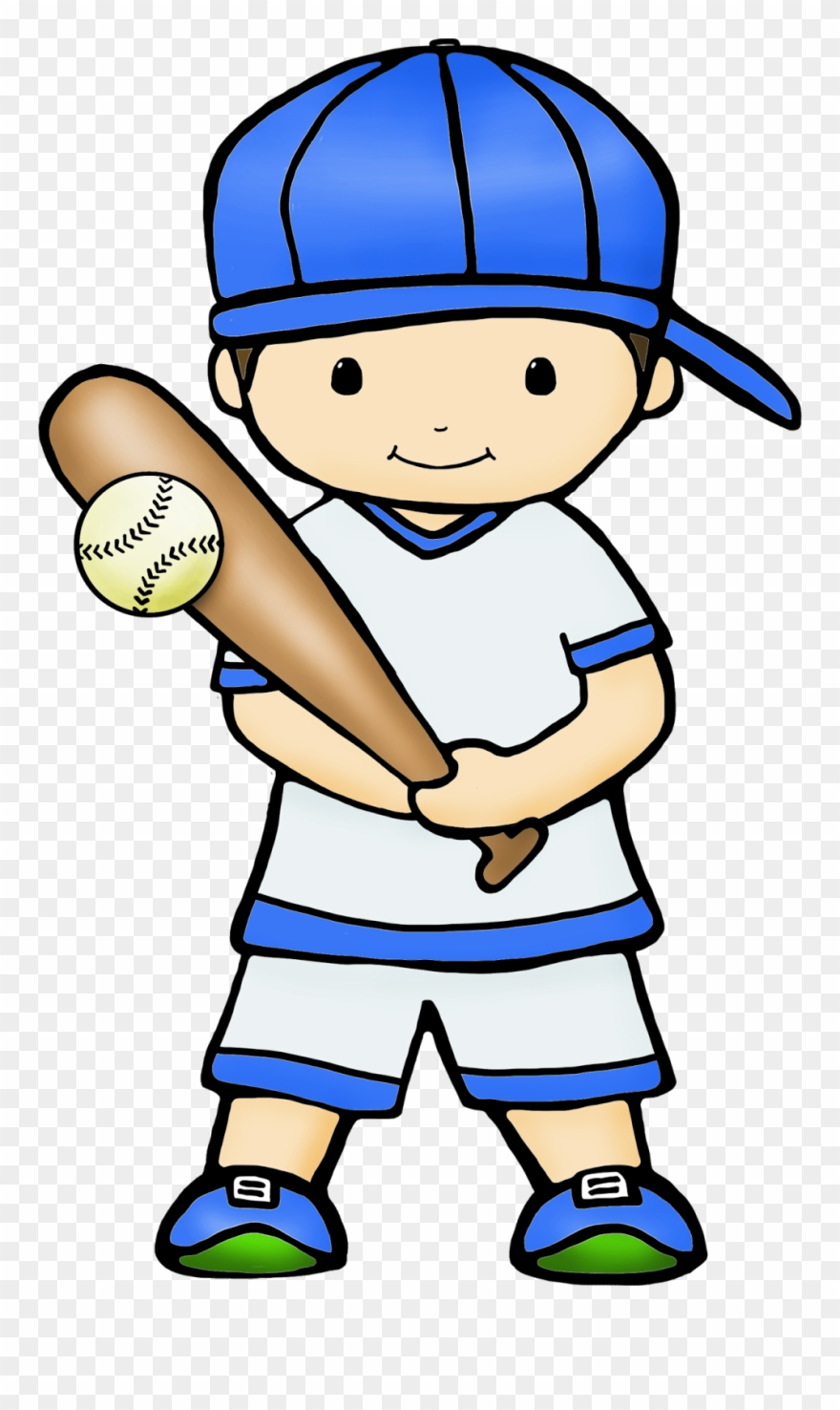 Boys playing baseball clipart clip art black and white library Cute Graphics By - Kid Play Baseball Cartoon Png Clipart (#2097501 ... clip art black and white library