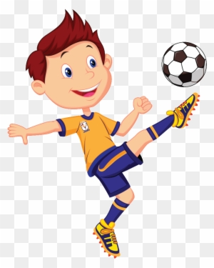 Playing soccer clipart