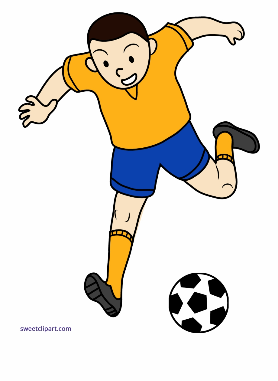 Playing soccer clipart graphic black and white download Png Royalty Free Library Boy Playing Soccer Clipart - Play Football ... graphic black and white download