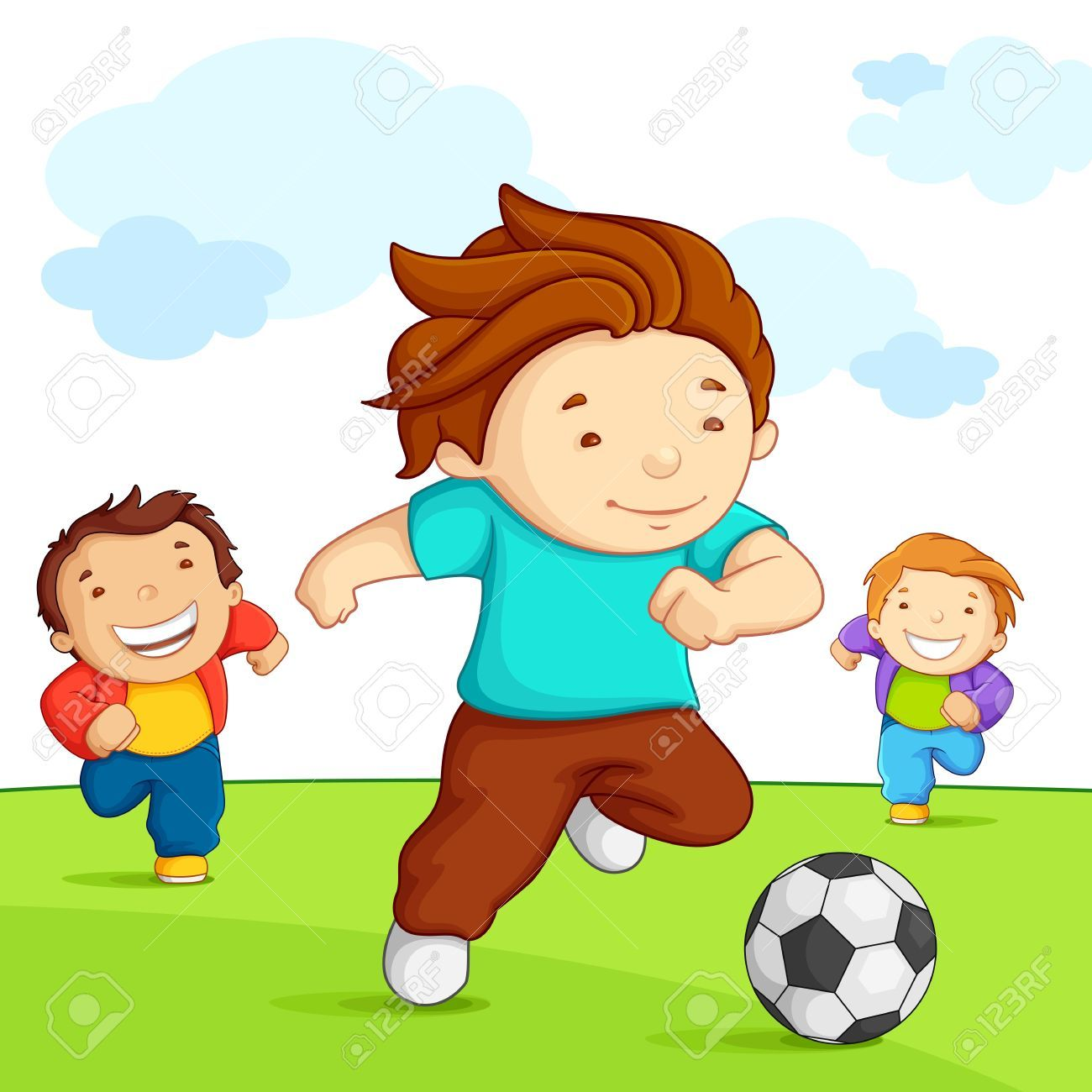 Boys playing soccer clipart image transparent library Boys playing soccer clipart 4 » Clipart Portal image transparent library