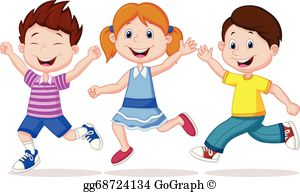Running kid clipart picture royalty free library Children Running Clip Art - Royalty Free - GoGraph picture royalty free library