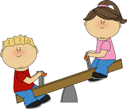 Boys seesaw clipart vector freeuse stock Congratulations to Phoebe L on being rehired as an pediatric OTR at ... vector freeuse stock