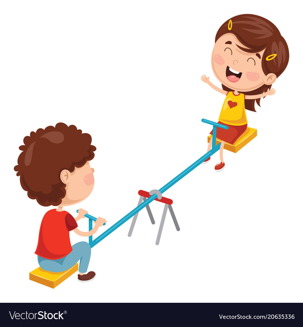 Boys seesaw clipart image freeuse library Kids playing on seesaw image freeuse library