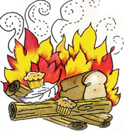 Bracha clipart clip free Chametz\'s Final Moments - The Burning of the Chametz - Passover clip free