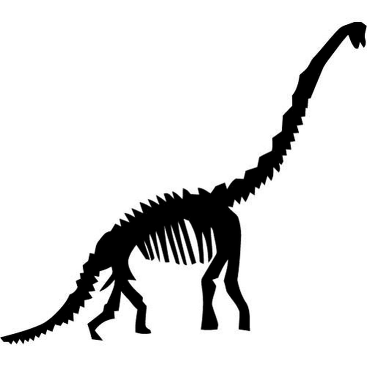 Brachiosaurus skeleton silhouette clipart image freeuse stock Brachiosaurus Dinosaur Fossil Decal image freeuse stock