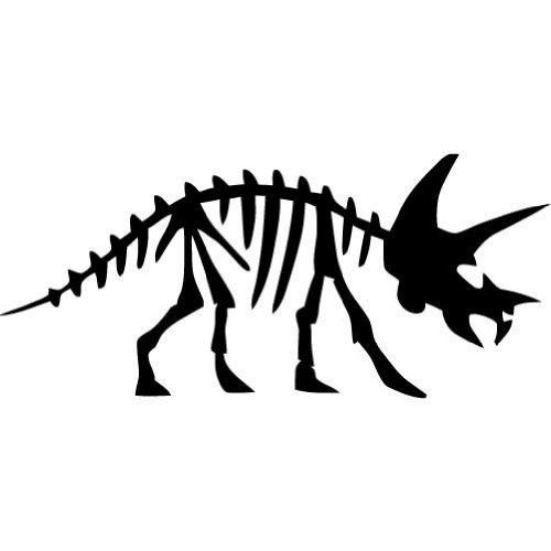 Brachiosaurus skeleton silhouette clipart png library library Triceratops Dinosaur Fossil -Large- Vinyl Wall Decal | Elandre ... png library library